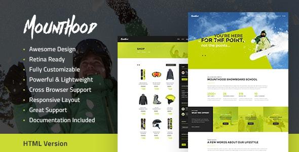 Mounthood v1.1 — Ski and Snowboarding HTML Template
