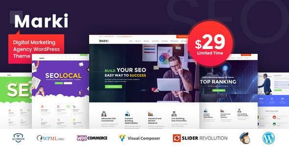 Marki v1.4 — Digital Marketing Agency WordPress Theme