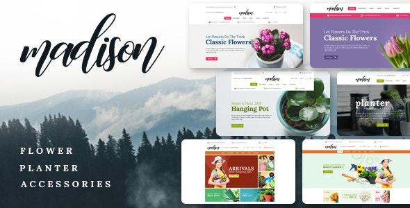 Madison v1.2 — Flowers, Plant, Beauty, Gardening tools, Food store, Nursery Shopify Theme