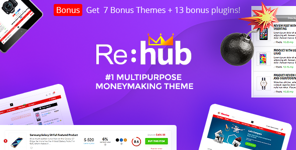 REHub v9.5.8 — Price Comparison, Business Community