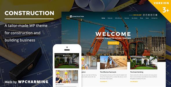 Construction v3.2 — WP Construction, Building Business