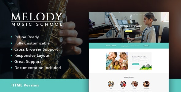 Melody v1.1 — Music School HTML Template