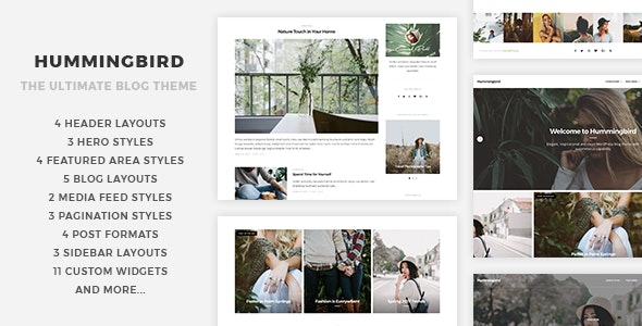 Hummingbird v1.0 — The Ultimate Blog Theme