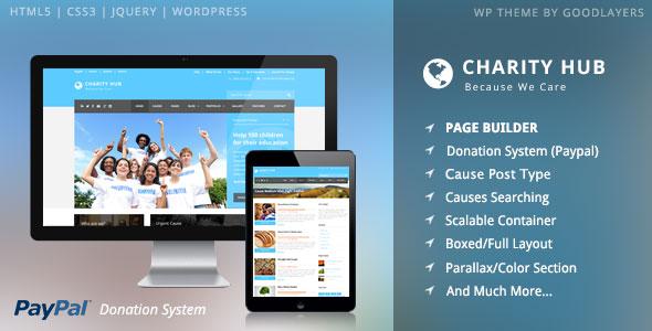 Charity Hub v1.32 — Charity / Nonprofit / Fundraising WP