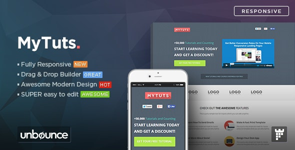 MyTuts v1.0 — Education Unbounce Template