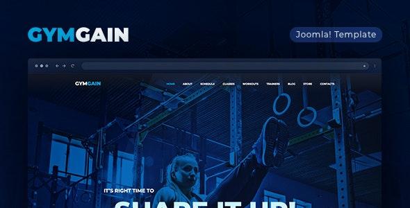 GymGain v1.0.0 — Sports Joomla Template