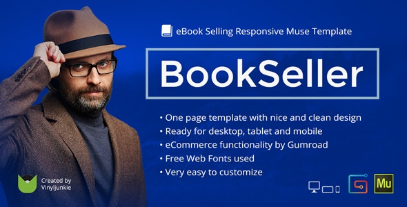 BookSeller v2.0 — eBook Selling Responsive Muse Template