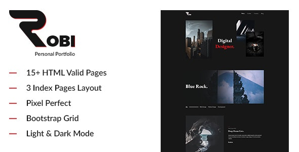 Robi v1.0 — Creative and Personal Portfolio HTML5 Template
