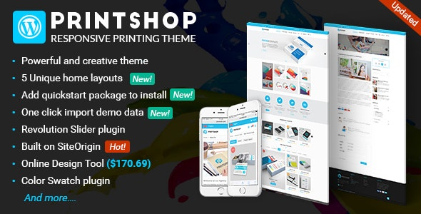 Printshop v4.4.0 — WordPress Responsive Printing Theme