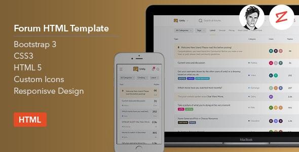 Forum HTML Template v1.0