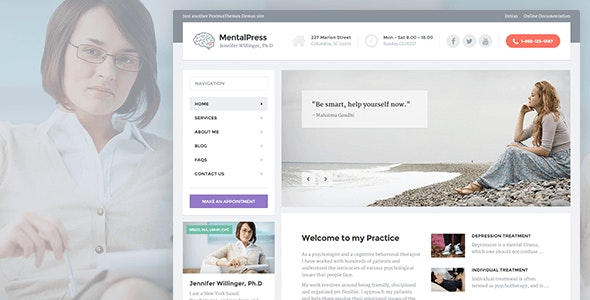 MentalPress v1.11.4 — WP Theme for your Medical or Psychology Website