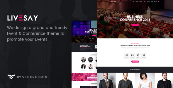 Livesay v1.8 — Event & Conference WordPress Theme