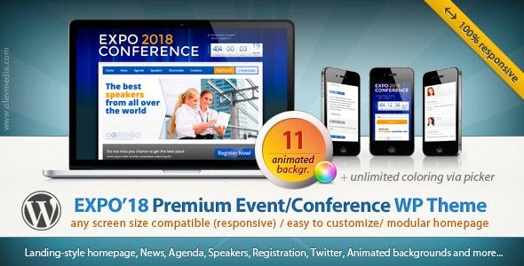 Expo18 v1.2.4 — Responsive Event Conference WordPress Theme