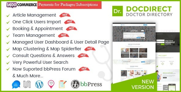 DocDirect v8.0.5 — WordPress Theme for Doctors and Healthcare Directory