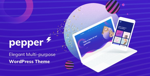 Pepper v1.4 — Elegant Multi Purpose WordPress Theme