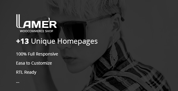Lamer Fashion v2.0 — WooCommerce WordPress Theme