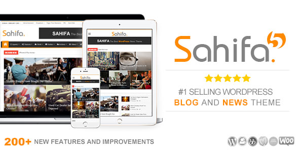 Sahifa v5.6.16 — Responsive WordPress News, Magazine