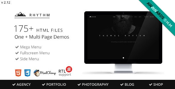 Rhythm v2.12 — Multipurpose One/Multi Page Template