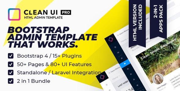Clean UI HTML Pro v2.0.2 — Multi Concept Admin Template