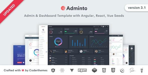 Adminto v3.1 — Admin Dashboard Template