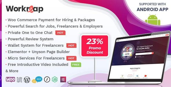 Workreap v1.2.1 — Freelance Marketplace WordPress Theme
