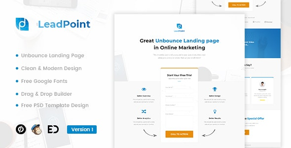 LeadPoint v1.0 — Lead Generation Unbounce Landing Page Template