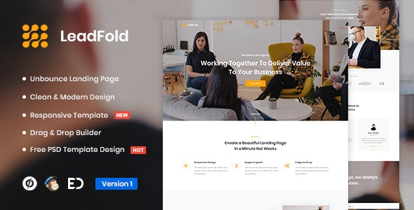 LeadFold v1.0 — Lead Generation Unbounce Landing Page