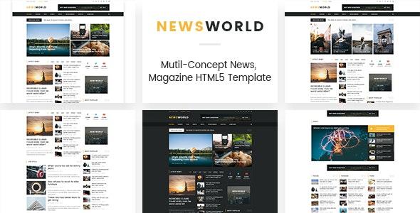 Newsworld v1.0 — Mutil-Concept Magazine HTML5 Template