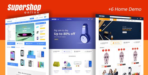 Super Shop v1.9 — Market Store RTL Responsive WooCommerce