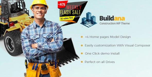 Buildana v1.4 — Construction & Building WordPress Theme