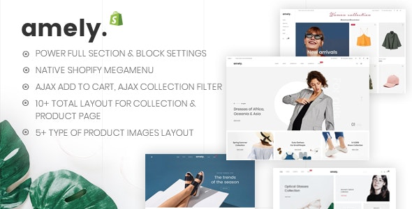Amely v1.0.2 — Clean & Modern Shopify Theme