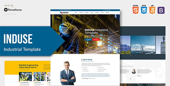 INDUSE v1.0 — Industrial Services HTML Template