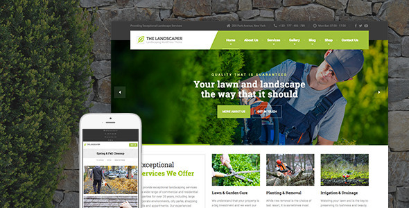 The Landscaper v1.8 — Lawn & Landscaping WP Theme