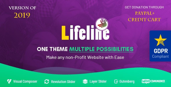 Lifeline v5.8.4 — NGO Charity Fund Raising WordPress Theme