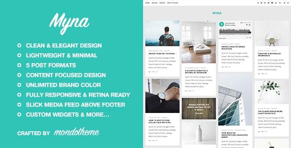Myna v1.2 — A Masonry WordPress Blog Theme