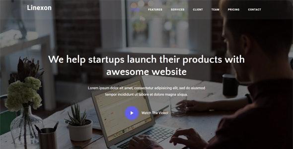 Linexon v1.0 — Responsive Bootstrap 4 Landing Page Template