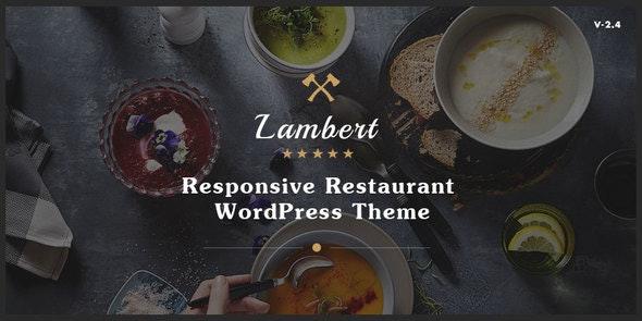 Lambert v2.5.2 — Restaurant / Cafe / Pub WordPress Theme