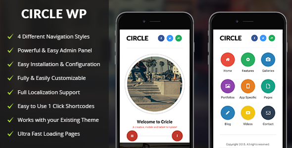 Circle Mobile v1.3 — Mobile WordPress Theme