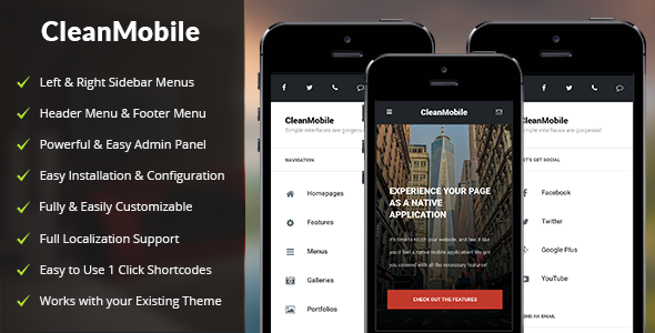 Clean Mobile v1.4 — Mobile WordPress Theme