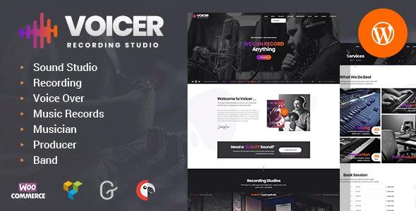 Voicer v1.0 — Recording Studio WordPress Theme