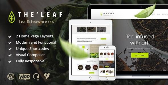 TheLeaf v1.7.1 — Tea Production Company & Online Coffee Shop WordPress Theme