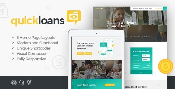QuickLoans v1.4.0 — Loan Company & Banking Business WordPress Theme