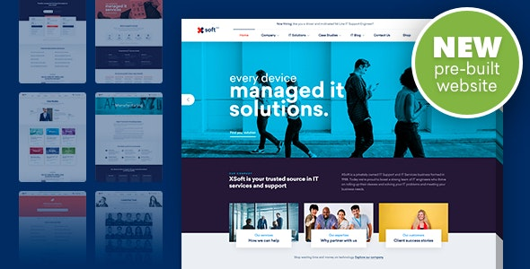 Nanosoft v1.1.9 — WP Theme for IT Solutions and Services Company