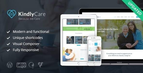 KindlyCare v1.6.1 — Senior Care & Medical WordPress Theme