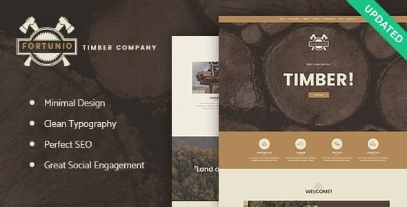 Fortunio v1.2.1 — Timber / Forestry / Wood Manufacture WordPress Theme