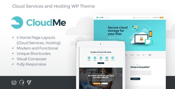 CloudMe v1.2.2 — Cloud Storage & File-Sharing Services WordPress Theme