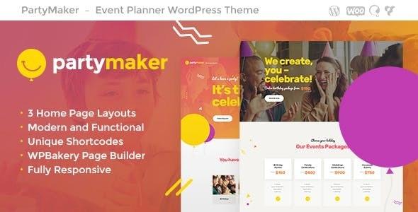 PartyMaker v1.1.2 — Event Planner & Wedding Agency WordPress Theme