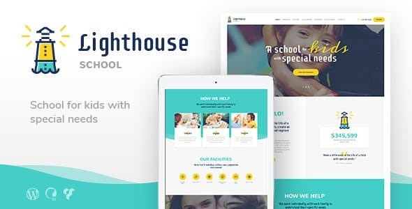 Lighthouse v1.2.1 — School for Handicapped Kids with Special Needs WordPress Theme