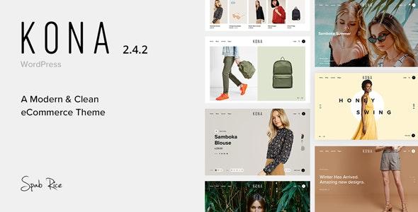 Kona v2.4.21 — Modern & Clean eCommerce WordPress Theme