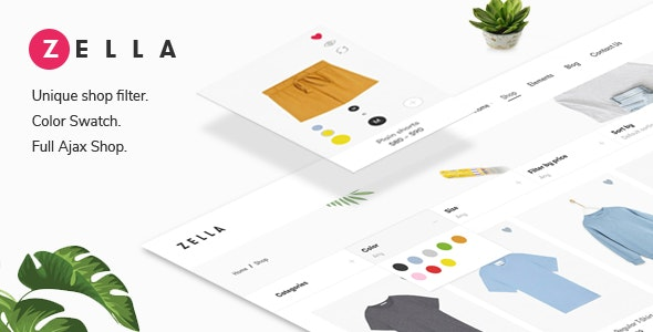 Zella v2.0.1 — WooCommerce AJAX WordPress Theme — RTL support